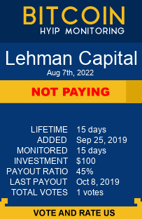 lehman.capital bitcoin hyip monitor