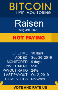 raisen.biz monitoring by bitcoin-hyip-monitoring.com