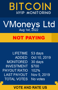 https://vmoneys.com/?ref=HyipMonitoring_biz monitoring by bitcoin-hyip-monitoring.com