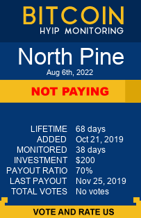 North Pine bitcoin hyip monitor