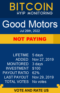 good-motors.com bitcoin hyip monitor