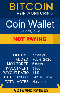 https://coinwallet.biz/?ref=HyipMonitoring_biz monitoring by bitcoin-hyip-monitoring.com