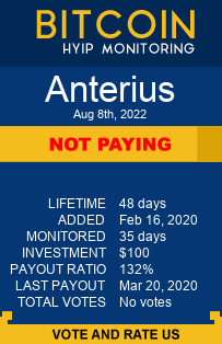 https://www.anterius.net/?ref=eaglehyipmonitor monitoring by bitcoin-hyip-monitoring.com