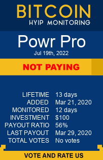 powr.pro monitoring by bitcoin-hyip-monitoring.com