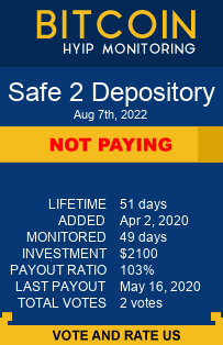 safe2depository.com monitoring by bitcoin-hyip-monitoring.com