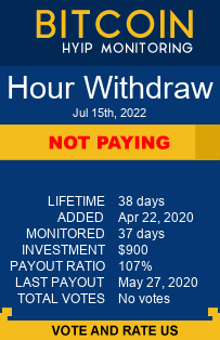 Hour Withdraw bitcoin hyip monitor