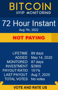 72 Hour Instant bitcoin hyip monitor