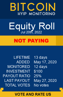 Equity Roll bitcoin hyip monitor