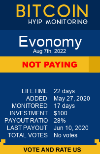 evonomy.io monitoring by bitcoin-hyip-monitoring.com