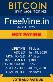 https://freemine.in/?ref=allhyipinvestor monitoring by bitcoin-hyip-monitoring.com