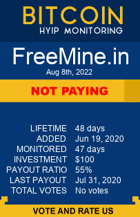 FreeMine.in bitcoin hyip monitor