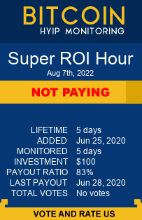 superroihour.com monitoring by bitcoin-hyip-monitoring.com