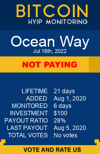 Ocean Way bitcoin hyip monitor