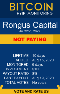 Rongus Capital bitcoin hyip monitor