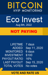 ecoinvest.io monitoring by bitcoin-hyip-monitoring.com