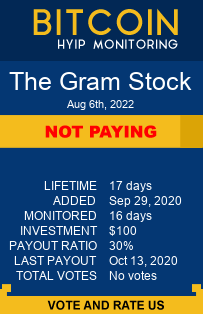 The Gram Stock bitcoin hyip monitor