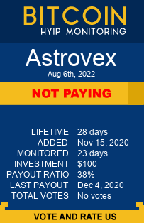 astrovex.biz monitoring by bitcoin-hyip-monitoring.com