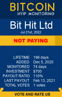 bithit.ltd/ads.php monitoring by bitcoin-hyip-monitoring.com
