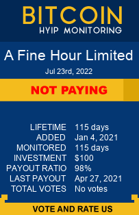 A Fine Hour Limited bitcoin hyip monitor
