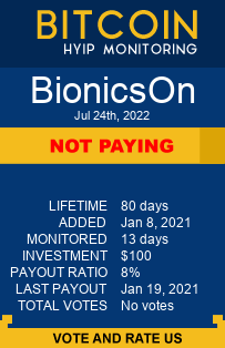 bionicson.com monitoring by bitcoin-hyip-monitoring.com