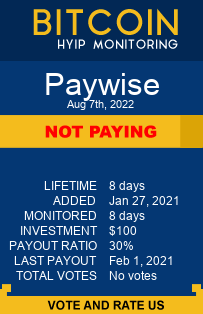 paywise.ltd monitoring by bitcoin-hyip-monitoring.com