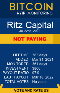 ritz-capital.com monitoring by bitcoin-hyip-monitoring.com