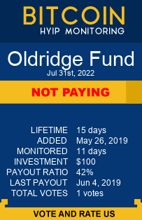 oldridge.fund monitoring by bitcoin-hyip-monitoring.com