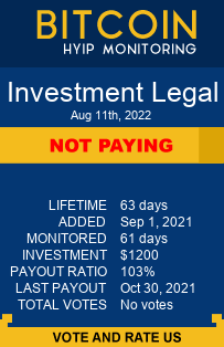 investment.legal monitoring by bitcoin-hyip-monitoring.com