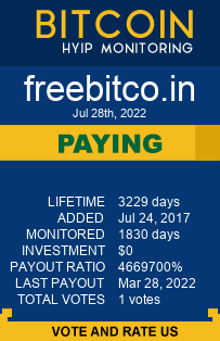 freebitco.in monitoring by bitcoin-hyip-monitoring.com